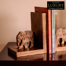 Load image into Gallery viewer, Elephant Book End With Hand Carving