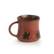 Load image into Gallery viewer, 'Leaves Imprinted' Studio Pottery Tea & Coffee Mugs In Ceramic (Set Of 2)