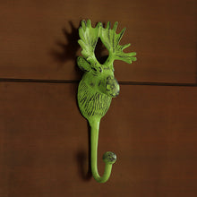 "Load image into Gallery viewer, ""The Princely Stag"" Rustic Aluminium Wall Decor & Wall Hook (9 Inch)"
