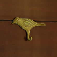 "Load image into Gallery viewer, ""The Green Pigeon"" Rustic Aluminium Wall Decor & Wall Hook (6 Inch)"