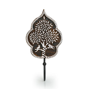 """Charming Tree "" Hand-Carved Block Wall Hook & Towel Holder In Sheesham Wood"