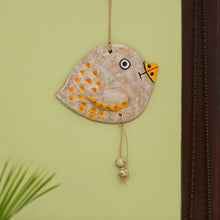 "Load image into Gallery viewer, ""Dotted Fish"" Handmade & Hand-Painted Garden Decorative Wall Hanging In Terracotta"
