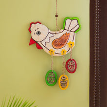 "Load image into Gallery viewer, ""Caring Hen"" Handmade & Hand-Painted Garden Decorative Wall Hanging In Terracotta"