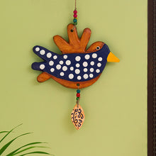 "Load image into Gallery viewer, ""Spotted Songbird"" Handmade & Hand-painted Garden Decorative Wall Hanging In Terracotta"