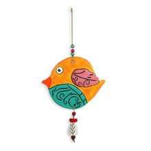 "Load image into Gallery viewer, ""Flappy Fish"" Handmade & Hand-painted Garden Decorative Wall Hanging In Terracotta"