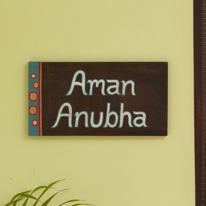 'Desert Labels' Customizable Wooden Name Plate (Handwritten Fonts)