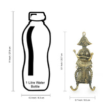 "Load image into Gallery viewer, ""Tribal Warrior"" Brass Key Holder Handmade in Dhokra Art (4 Hooks)"