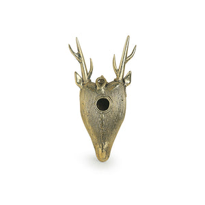 """Deer Mantel"" Brass Decorative Wall Hanging Handmade in Dhokra Art"