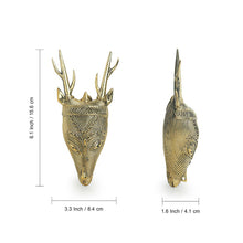"Load image into Gallery viewer, ""Deer Mantel"" Brass Decorative Wall Hanging Handmade in Dhokra Art"