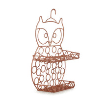 Load image into Gallery viewer, 'The Wise Old Owl' Handwired Kitchen-Bathroom Storage Wall Shelf In Iron (11 Inch, Copper Finish)