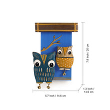 Load image into Gallery viewer, 'Owl Siblings' Wooden Wall Decor