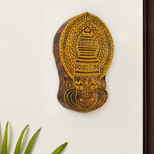 Load image into Gallery viewer, 'Kathakali Maquillage' Hand Carved Block Wall Décor In Sheesham Wood