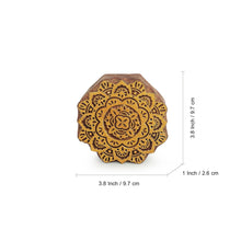 Load image into Gallery viewer, 'Mandala Pair' Hand Carved Block Wall Décor In Sheesham Wood (Set of 2)