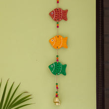 Load image into Gallery viewer, 'The Fish Family' Handmade & Hand-painted Decorative Wall Hanging In Terracotta