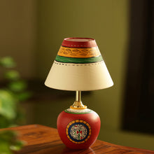 Load image into Gallery viewer, 13 Inch Terracotta Handpainted Warli Matki Lamp In Red
