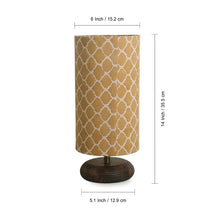 Load image into Gallery viewer, ''Moroccan'' Round Table Lamp In Mango Wood 14 inch
