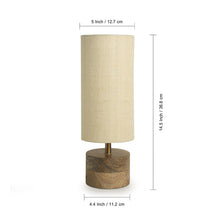 Load image into Gallery viewer, ''Volta'' Round Table Lamp In Mango Wood 14 inch