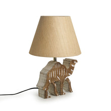Load image into Gallery viewer, ''Imperial Camel'' Handcarved Table Lamp In Mango Wood 16 inch