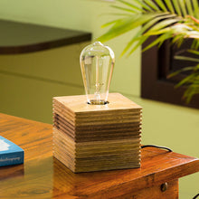 Load image into Gallery viewer, ''Edison'' Table Lamp In Mango Wood 4.4 inch