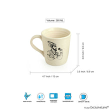 Load image into Gallery viewer, 'Daawat-e-Taj' Handcrafted Ceramic Tea & Coffee Mugs (Set of 2, 260 ml, Microwave Safe)