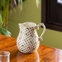 Load image into Gallery viewer, 'Daawat-e-Taj' Handcrafted Ceramic Milk & Water Jug (1400 ml, Microwave Safe)