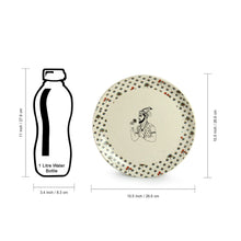 Load image into Gallery viewer, 'Daawat-e-Taj' Handcrafted Ceramic Dinner Plates (Set of 6, Microwave Safe)