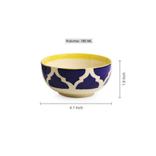 Load image into Gallery viewer, Four Mediterranean Bowls' Handpainted Serving Bowls In Ceramic (Set Of 4)