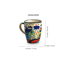 Load image into Gallery viewer, 'The Hut Jumbo Cuppas' Hand-Painted Mugs In Ceramic (Set Of 2)