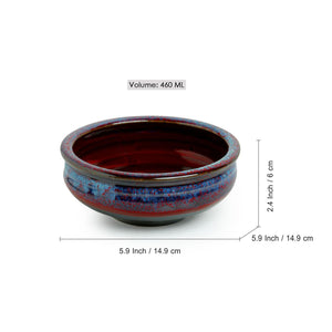 'Dusk of the Day' Hand Glazed Studio Pottery Ceramic Serving Bowls (Set Of 2)