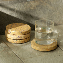 Load image into Gallery viewer, 'The Creamy Coaster' Handcrafted Terrazzo Coasters In Concrete (Set Of 4)