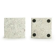 Load image into Gallery viewer, 'The Grey-White' Handcrafted Terrazzo Coasters In Concrete (Set Of 4)
