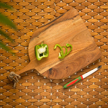 Load image into Gallery viewer, 'Arch Slate' Chopping Board In Acacia Wood