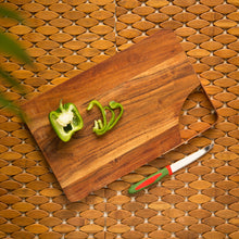 Load image into Gallery viewer, 'Curved Slate' Chopping Board In Acacia Wood
