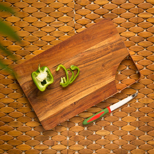 'Curved Slate' Chopping Board In Acacia Wood
