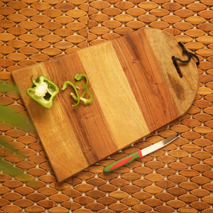 'The Arch Patterns' Chopping Board In Acacia and Mango Wood