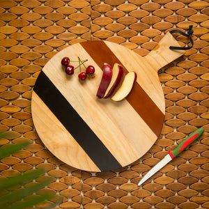 'The Many-Hued Sphere' Multicoloured Chopping Board In Pine Wood