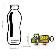 Load image into Gallery viewer, 'The Riding Truck' Hand-Painted Bottle Opener & Fridge Magnet In Chilbil Wood