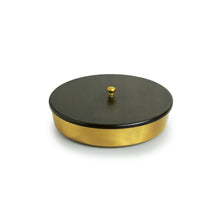 "Load image into Gallery viewer, ""Masala Blends"" Handcrafted Round Spice Box In Pure Brass (7 Containers)"
