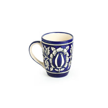 "Load image into Gallery viewer, ""Floral Mughal"" Hand-Painted Studio Pottery Coffee & Tea Mugs In Ceramic (Set of 2)"