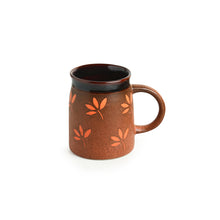 "Load image into Gallery viewer, ""Leaf Sips"" Hand-Painted & Handglazed Studio Pottery Coffee & Tea Mugs In Ceramic (Set of 2)"