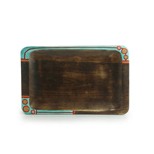 Load image into Gallery viewer, 'Desert Dines' Hand-Painted Serving Tray In Mango Wood