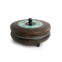 Load image into Gallery viewer, 'Desert Stash' Hand-Painted Chapati Box In Mango Wood