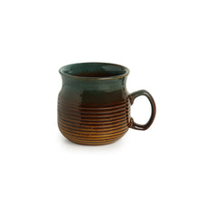 Load image into Gallery viewer, 'Amber & Teal' Studio Pottery Mugs in Ceramic (Set Of 2)