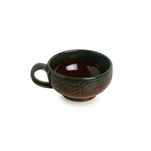 Load image into Gallery viewer, 'Amber & Teal' Studio Pottery Soup Bowls With Spoons In Ceramic (Set Of 4)