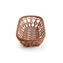 Load image into Gallery viewer, 'The Knotted Mesh' Handwoven Fruit Basket In Iron (Copper Finish)