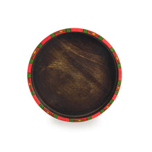 "Load image into Gallery viewer, ""Warli Round"" Hand-Painted Trays with Foldable Stands In Mango Wood & Iron (Set of 2)"