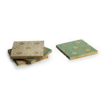 Load image into Gallery viewer, 'Seamless Squares' Coasters In Mango Wood (Set of 4, Antique Finish)