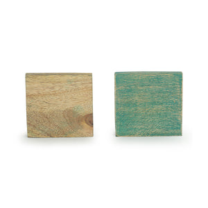 'The Sitting Feline' Coasters In Mango Wood (Set of 4, Antique Finish)