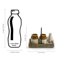 Load image into Gallery viewer, 'Old Fashioned Martaban' Salt & Pepper Shaker Set With Toothpick Holder & Tray (110 ML)