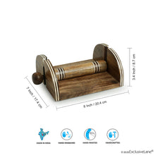 Load image into Gallery viewer, 'Nap & Roll' Hand Engraved Napkin Holder In Mango Wood